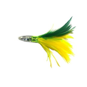 ZF1 Feather Trolling Game Lure 6''- Green / Yellow
