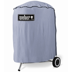 7176 One Touch Vinyl Charcoal BBQ Cover- Standard / Suits 57cm Models