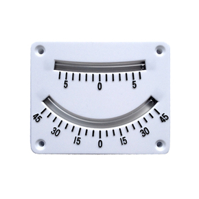 2 Scale White Plastic Inclinometer 45-0-45 Degrees