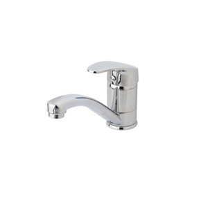 Single Lever Hot/Cold Mixer Tap with 360 degree Swivel - Chrome on Brass
