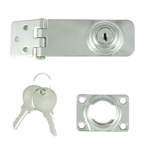 Pressed SS Hasp & Staple  - 78mm x 30mm w/key