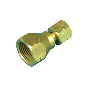 Brass POL to Companion Gas Cylinder Adaptor - Straight