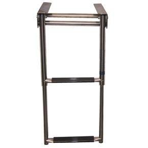Below Platform 2 Step Telescopic Boarding Ladder - 316 Grade SS