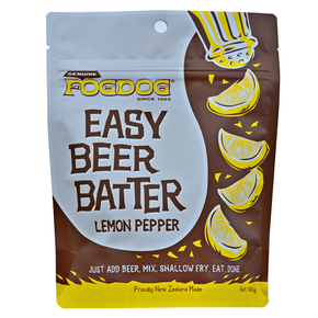 Easy Beer Batter for Fish Lemon Pepper Flavour- Feeds 6-8/Pack
