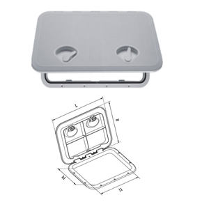White ABS 2 Latch Access Hatch - 510x460mm