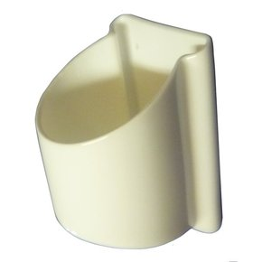 Side Mount Drinkholder - White