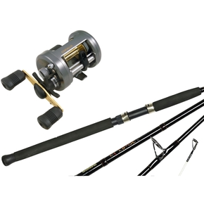 Corvalus 400 Baitcast Star Drag Reel with Eclipse Rod 4-8kg 6'