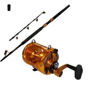 Makaira 50WII Speed Lever Drag Game Reel & Makaira 24kg Fully Rollered Rod