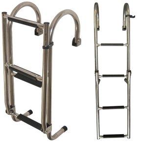 SS Deck Mount Ladder - 2+2 Step