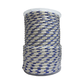 Precut 8mm x 50m Yacht Racing Braid - Blue/Black Fleck