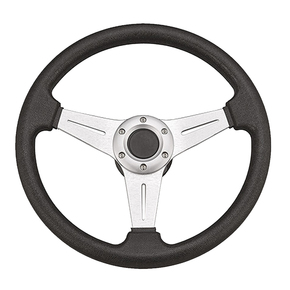 "3 Spoke 13.5"" Daytona Steering Wheel w/Brushed Alum Centre"