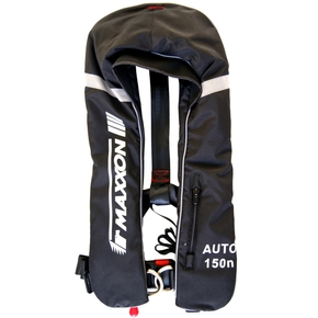 Premium Automatic 150n CO2 Adult Inflatable Lifejacket- Black