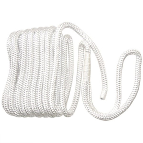 Braided Nylon Dock/Mooring Line - 12mm x 8m - White