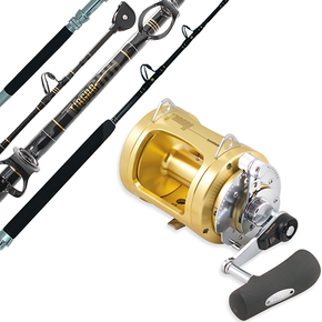 Tiagra 50WLRS Reel with Tiagra 37kg Stand Up Roller Tip Game Rod