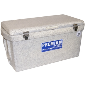 Heavy Duty Ice Box/Bin Cooler Long - 60 litres - Marble