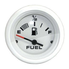 Arctic Domed White Universal Fit Fuel Guage