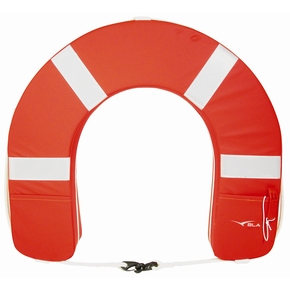 Premium Horseshoe Lifebuoy Red w/Reflectors