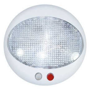Red/White LED Cabin Light w/ Dimmer - Surface Mount - 123mm