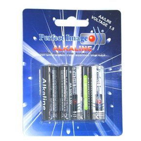 AA Batteries - Alkaline - 4 Pack