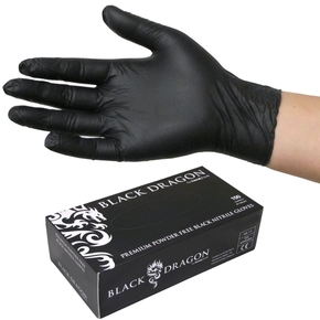 Premium Black Nitrile Disposable Glove Size XXL - 100-pk