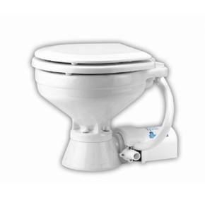 12v Quiet Flush Electric Marine/RV Toilet Compact Bowl