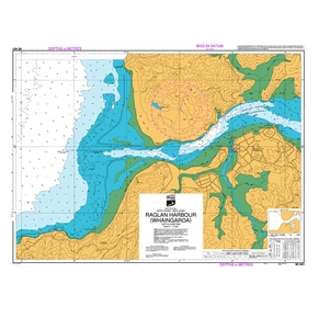 NZ 4421 Hydrographic Nautical Chart- Raglan Harbour