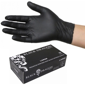 Black Nitrile Powder Free Disposable Glove Size Large - 100-pk