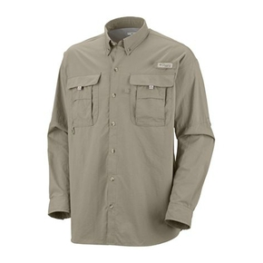Mens Bahama II Long Sleeve Fishing Shirt - Cypress