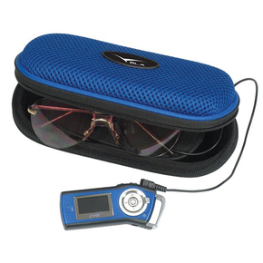 Sunglass Case with Built in Portable Stereo Speakers