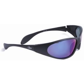 Nauru Black Polarised Blue Mirror Sunglasses