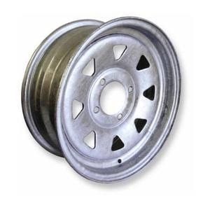 "Galvanised 4 Stud 4"" PCD-Trailer Wheel Rim 12""x4"" 8 Spoke"