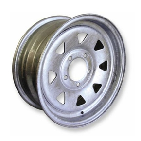 "Galvanised 5 Stud 4.5"" PCD Trailer Wheel Rim 14"" x 5.5"""