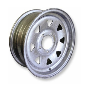 "Galvanised 5 Stud 4.5"" PCD Trailer Wheel Rim 15"" x 6"""