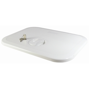White ABS Plastic Boat Access Hatch- 383x375mm