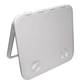 White ABS 2 Latch Access Hatch - 515x470mm