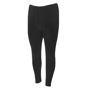 Mens Polyester Baselayer Thermal Leggings Black - XL