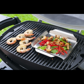 91134 Q Series Stainless Steel Barbecue Grill Pan