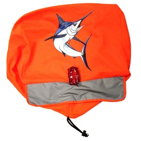 Marlin Outboard Motor Safety Tow Flag Bag w/LED Light