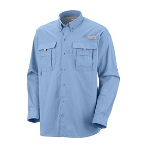 Bahama II Long Sleeved Fishing Shirt Sail Blue XXL