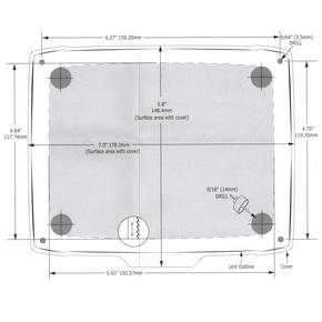 "Flush Mounting Kit for Elite &Mark 5"" Series Units"