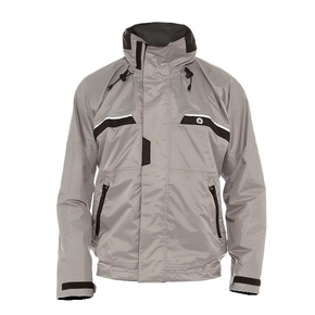 Inshore or Powerboat Jacket Oyster Grey with Carbon Trim -  Medium