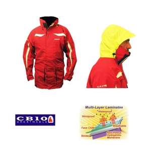 Bass CB10 Coastal Crew/Sailing Jacket Red - XL