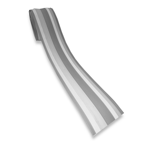 8CM GREY/WH INFLATABLE RUBBING STRIP PER METRE