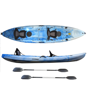 2 Person Fishing Kayak 3.72m w/Paddle, Deluxe Seats, Rodholders
