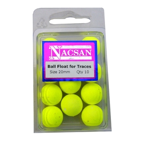 Fluoro Ball Floats 20mm - (Pack of 10)