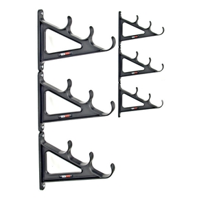 9 Rod Wall Mount Horizontal Rod Storage Rack