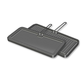 Newport Barbecue Hot Plate/Griddle Reversible - Oblong 20x43cm