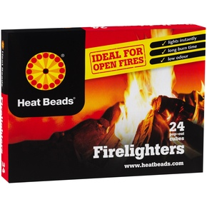 Charcoal BBQ Barbeque Natural Firelighters - Pack of 24