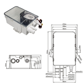 12v / 750GPH Automatic Shower Drain Pump Kit