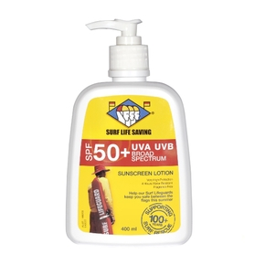 Surf Life Saving NZ SP50 Sunblock - 400ml Pump Bottle (4 Hour Water Resistance)